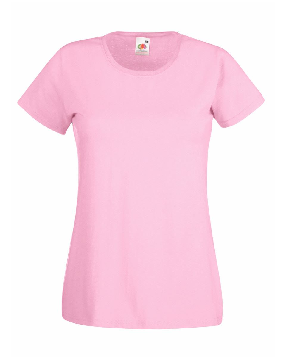 Fruit-of-the-Loom-Womens-Lady-Fit-T-Shirt-Valueweight-Plain-Blank-T-Shirt-Top thumbnail 22