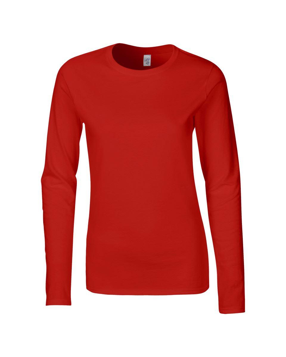 GILDAN-softsyle-Femmes-T-shirt-homme-a-manches-longues-100-Coton-Doux-Decontracte-Femme miniature 35