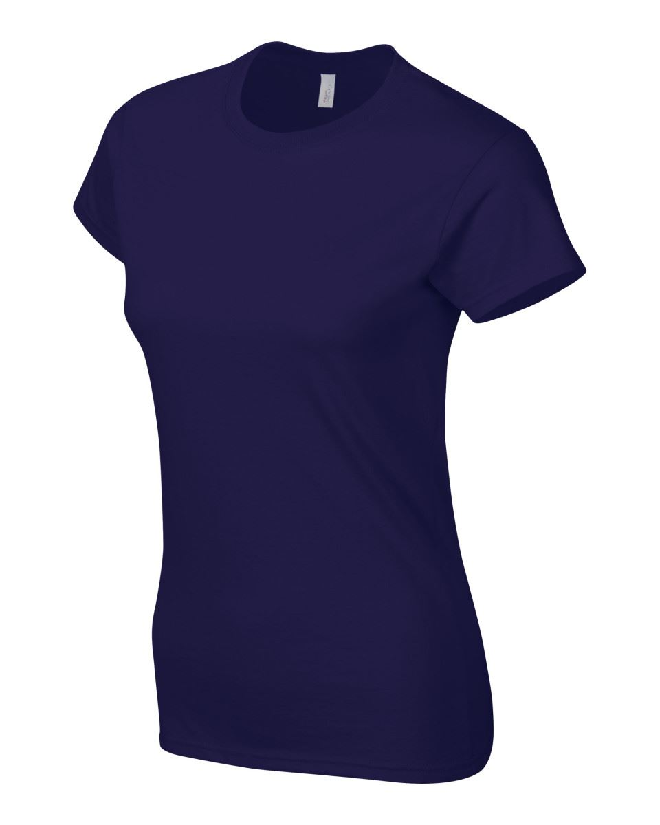 Gildan-Womens-Ladies-Soft-Style-Plain-V-Neck-T-Shirt-Cotton-Tee-Tshirt thumbnail 49