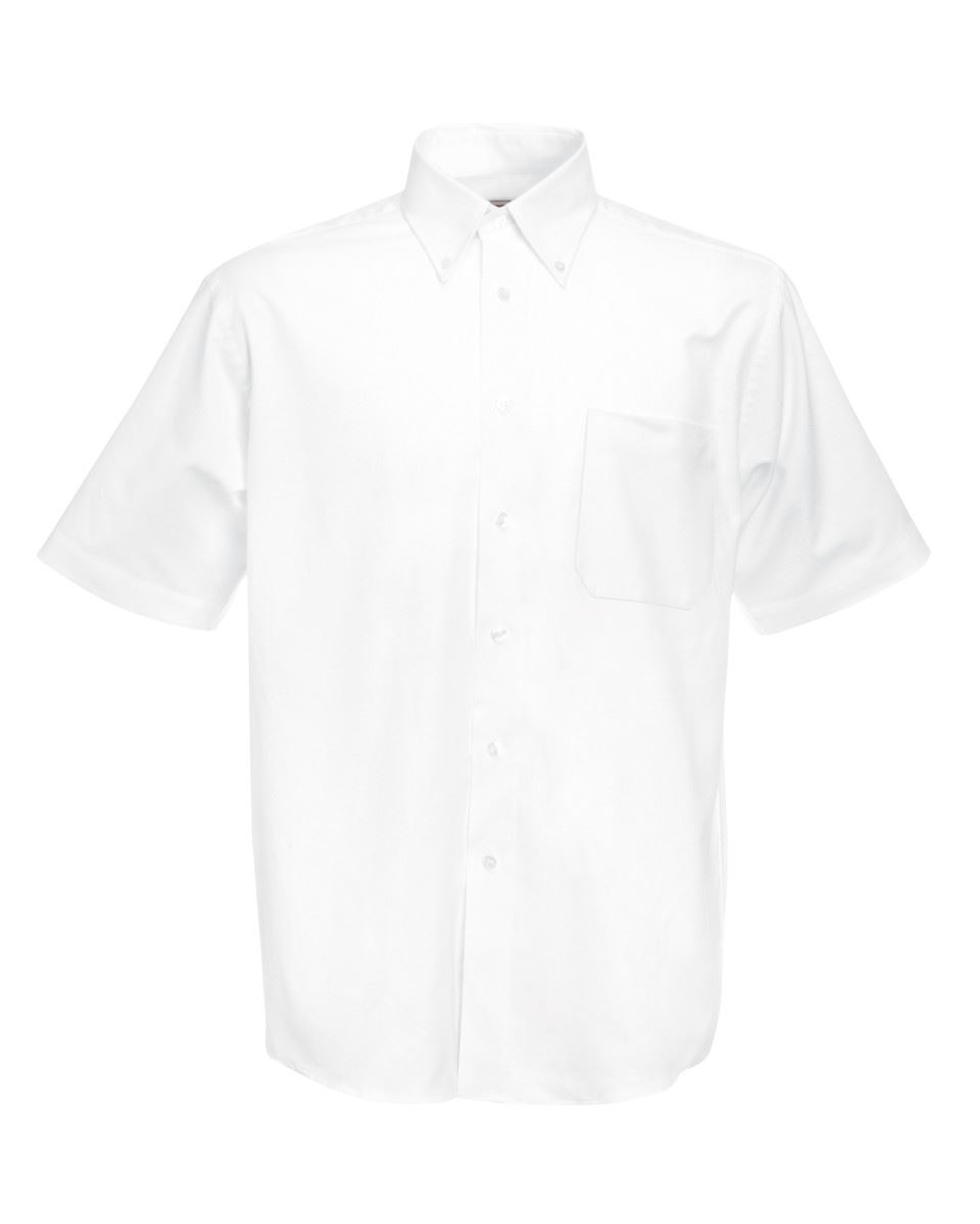 Fruit-of-the-Loom-Mens-Classic-Oxford-Short-Sleeve-Smart-Business-Work-Shirt-New thumbnail 16