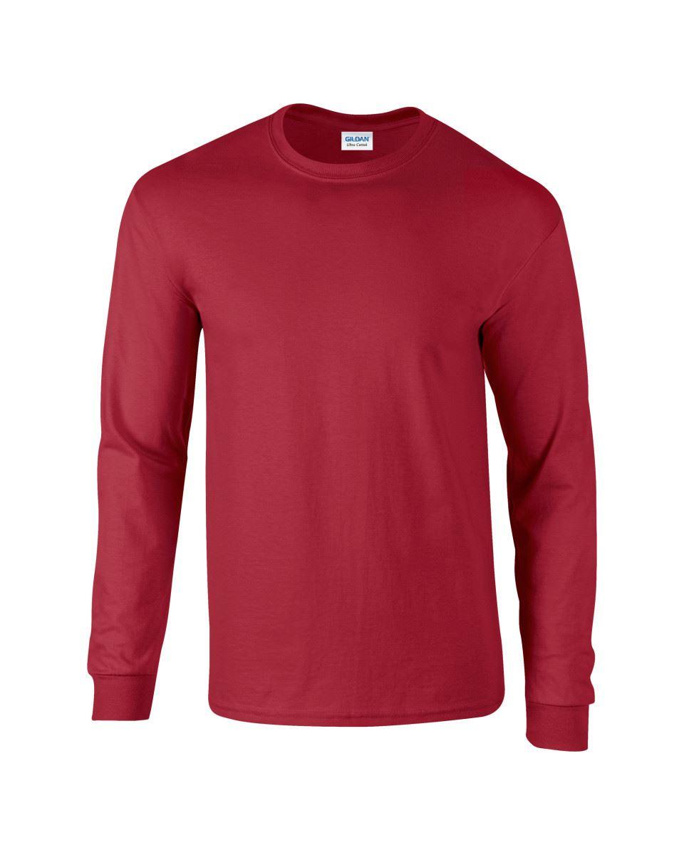 Gildan-Mens-Ultra-Cotton-Adult-Long-Sleeve-Plain-T-Shirt-Tshirt-Cotton-Tee-Shirt thumbnail 40