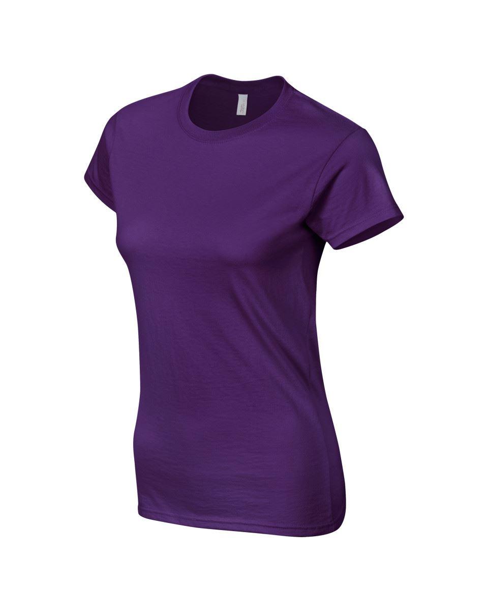 Gildan-Womens-Ladies-Soft-Style-Plain-V-Neck-T-Shirt-Cotton-Tee-Tshirt thumbnail 120