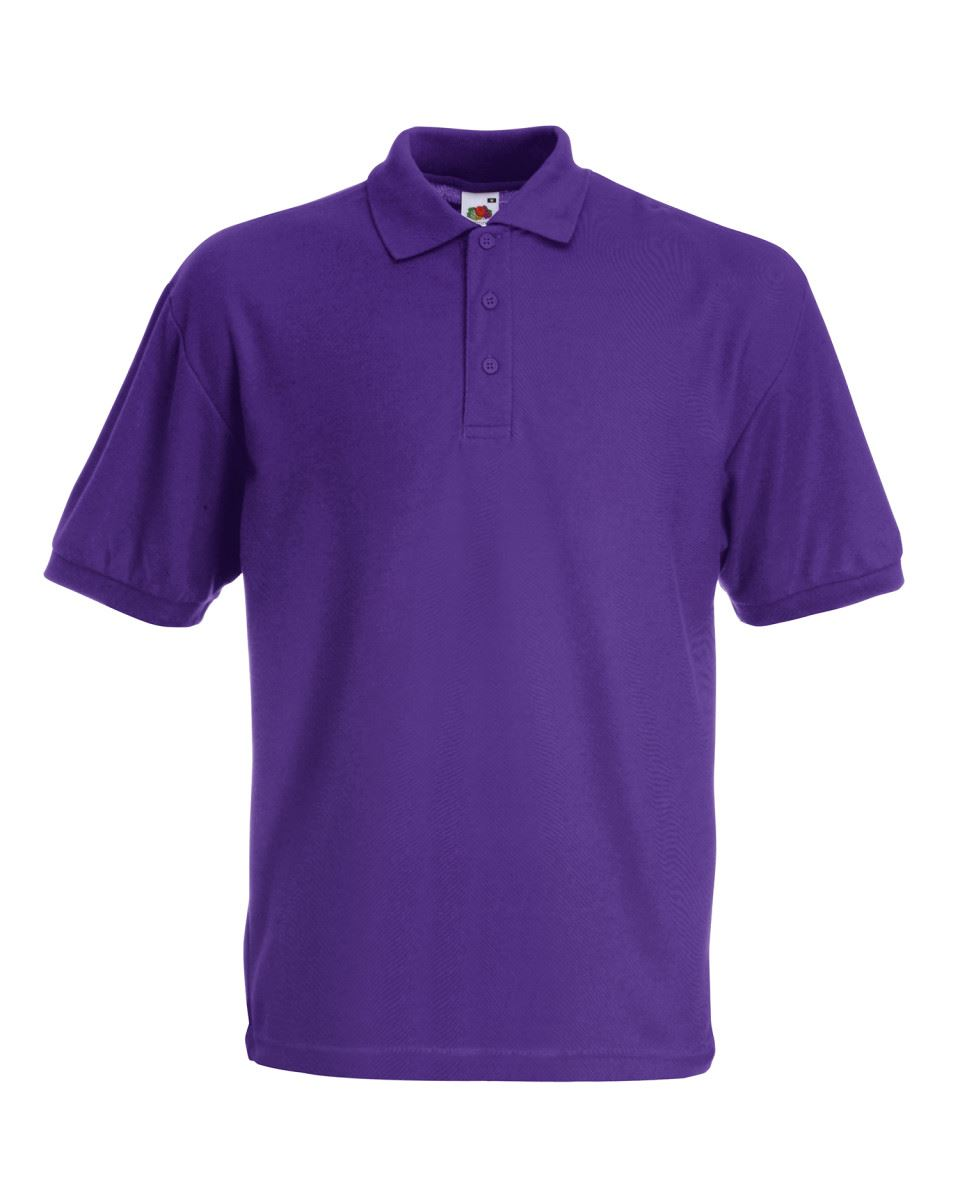 Fruit-of-the-Loom-Plain-Cotton-Mens-Polo-Shirts-T-Shirt-Short-Sleeve-Tshirt thumbnail 20