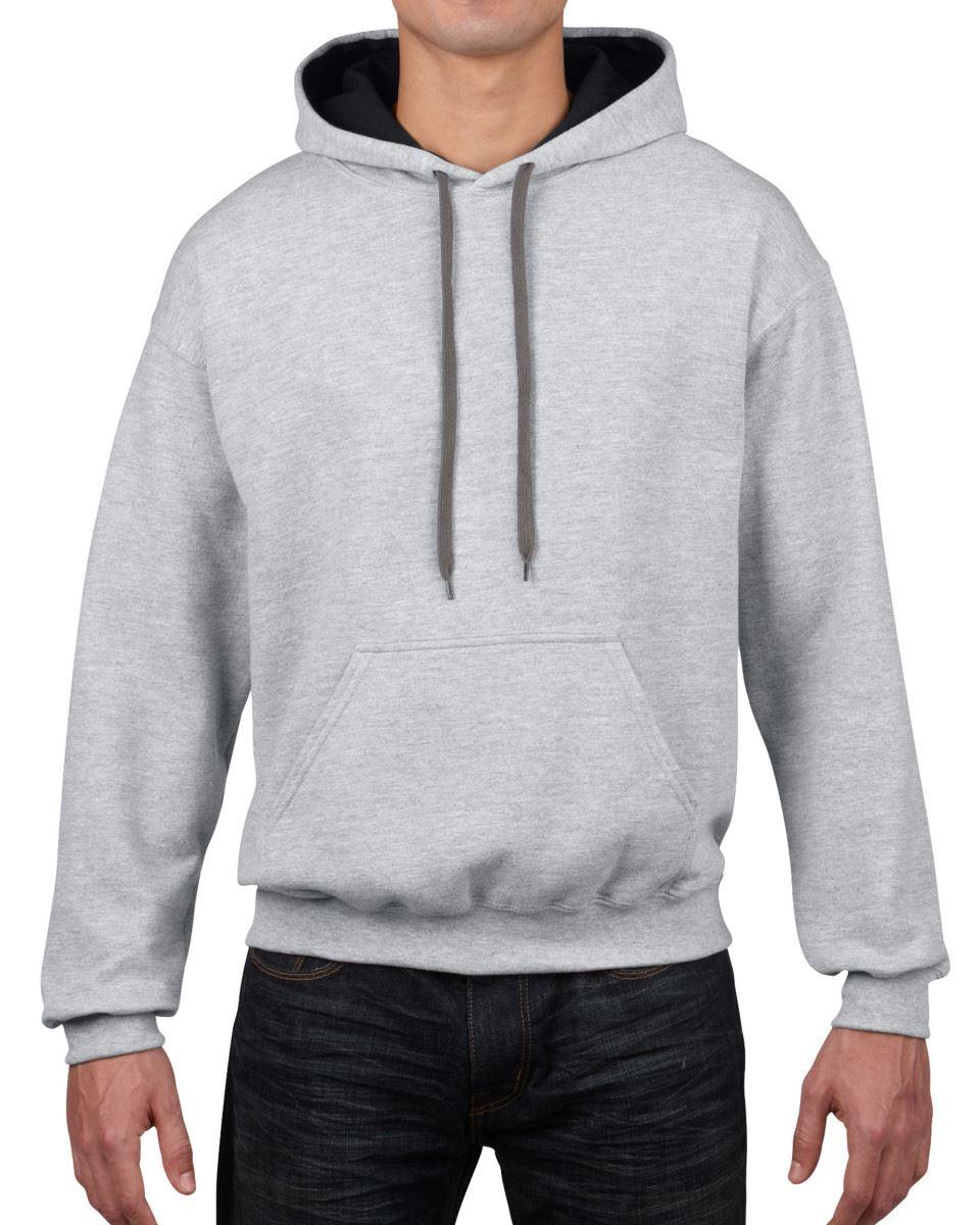 Gildan-Heavy-Blend-Plain-Contrast-Hooded-Sweatshirt-Hoodie-Sweat-Hoody-Jumper thumbnail 36