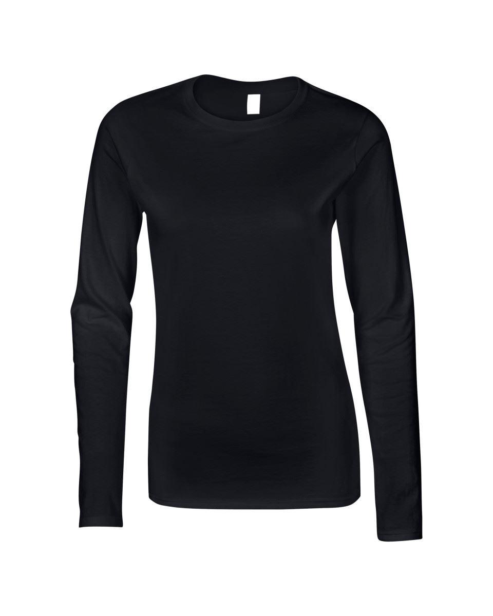GILDAN-softsyle-Femmes-T-shirt-homme-a-manches-longues-100-Coton-Doux-Decontracte-Femme miniature 10