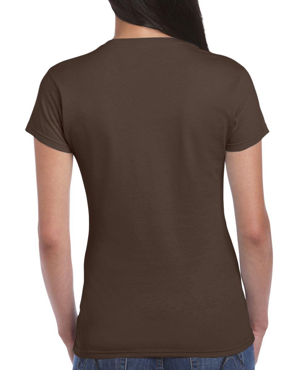 Gildan-Womens-Ladies-Soft-Style-Plain-V-Neck-T-Shirt-Cotton-Tee-Tshirt thumbnail 60
