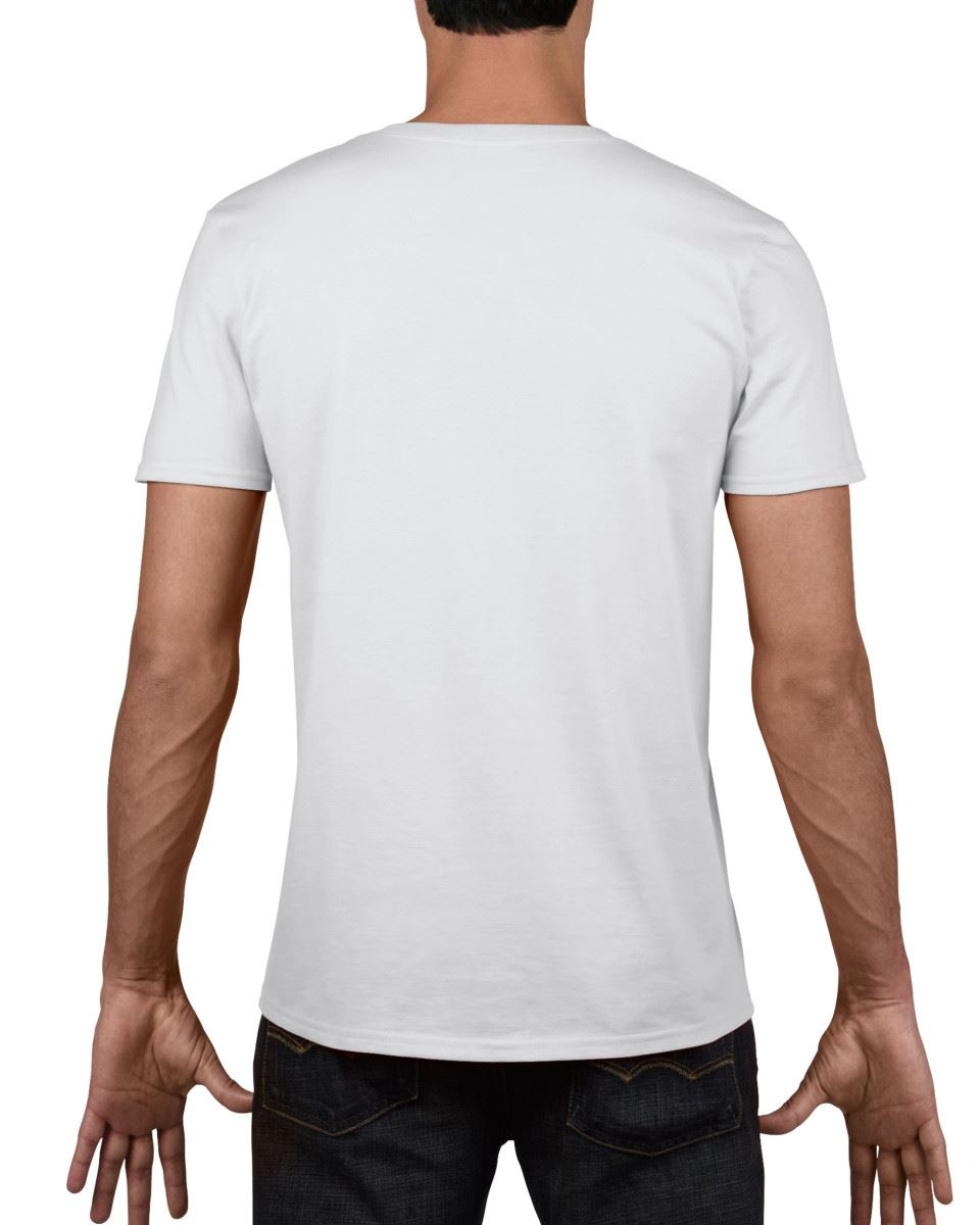 Gildan-Mens-Men-039-s-Soft-Style-Plain-V-Neck-T-Shirt-Cotton-Tee-Tshirt thumbnail 4