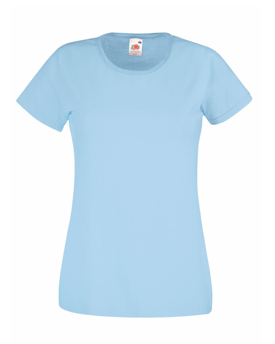 Fruit-of-the-Loom-Womens-Lady-Fit-T-Shirt-Valueweight-Plain-Blank-T-Shirt-Top thumbnail 40