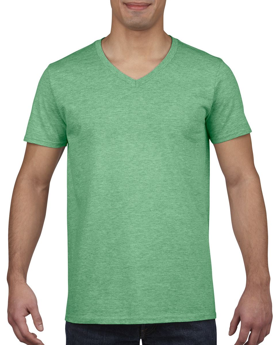 Gildan-Mens-Men-039-s-Soft-Style-Plain-V-Neck-T-Shirt-Cotton-Tee-Tshirt thumbnail 23