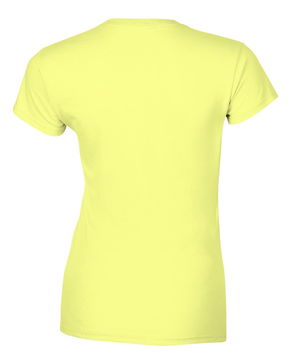 Gildan-Womens-Ladies-Soft-Style-Plain-V-Neck-T-Shirt-Cotton-Tee-Tshirt thumbnail 55