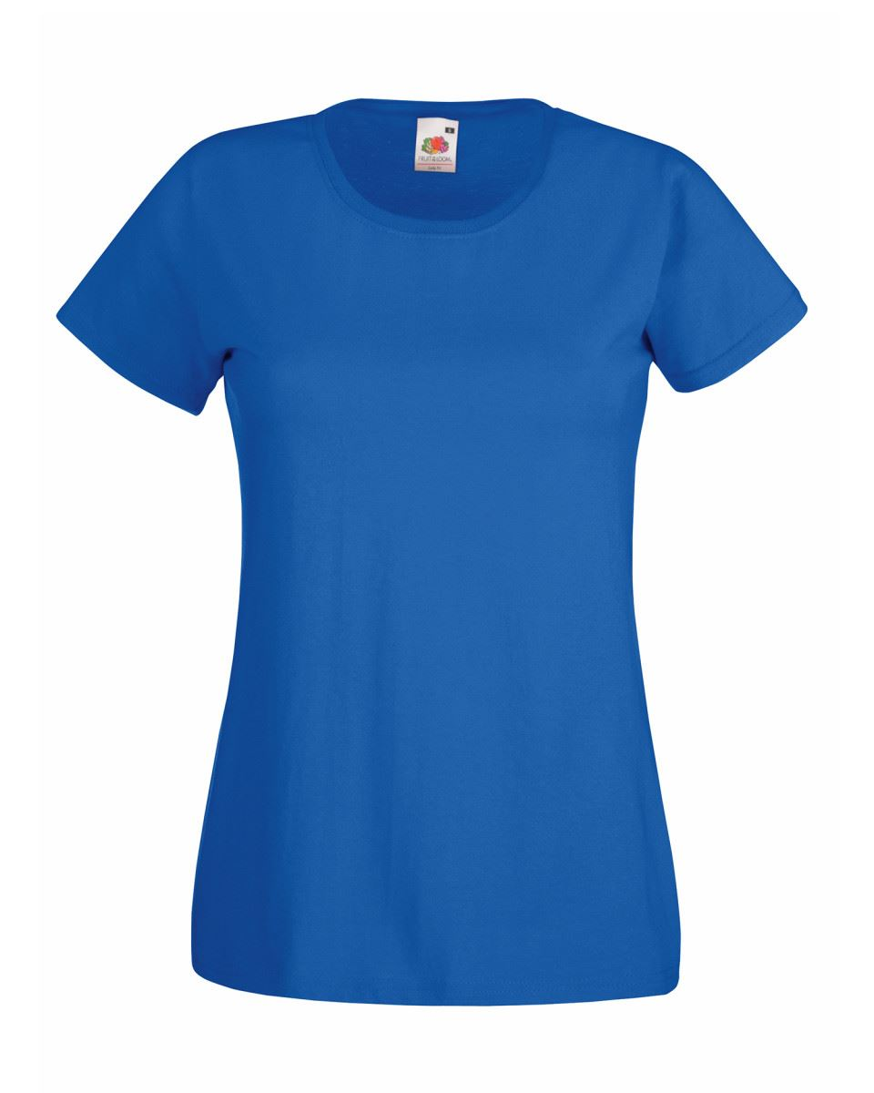 Fruit-of-the-Loom-Womens-Lady-Fit-T-Shirt-Valueweight-Plain-Blank-T-Shirt-Top thumbnail 38