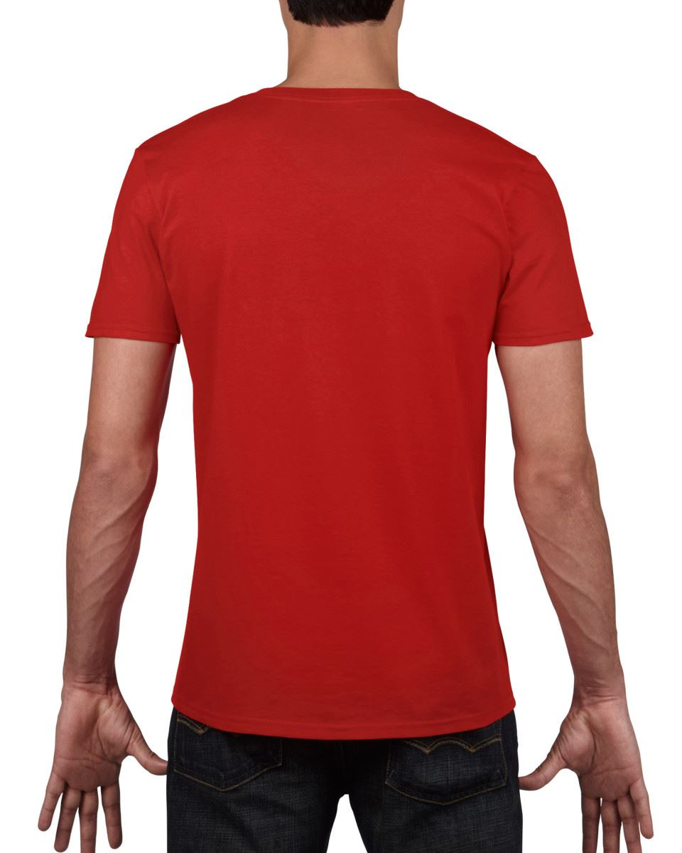 Gildan-Mens-Men-039-s-Soft-Style-Plain-V-Neck-T-Shirt-Cotton-Tee-Tshirt thumbnail 49