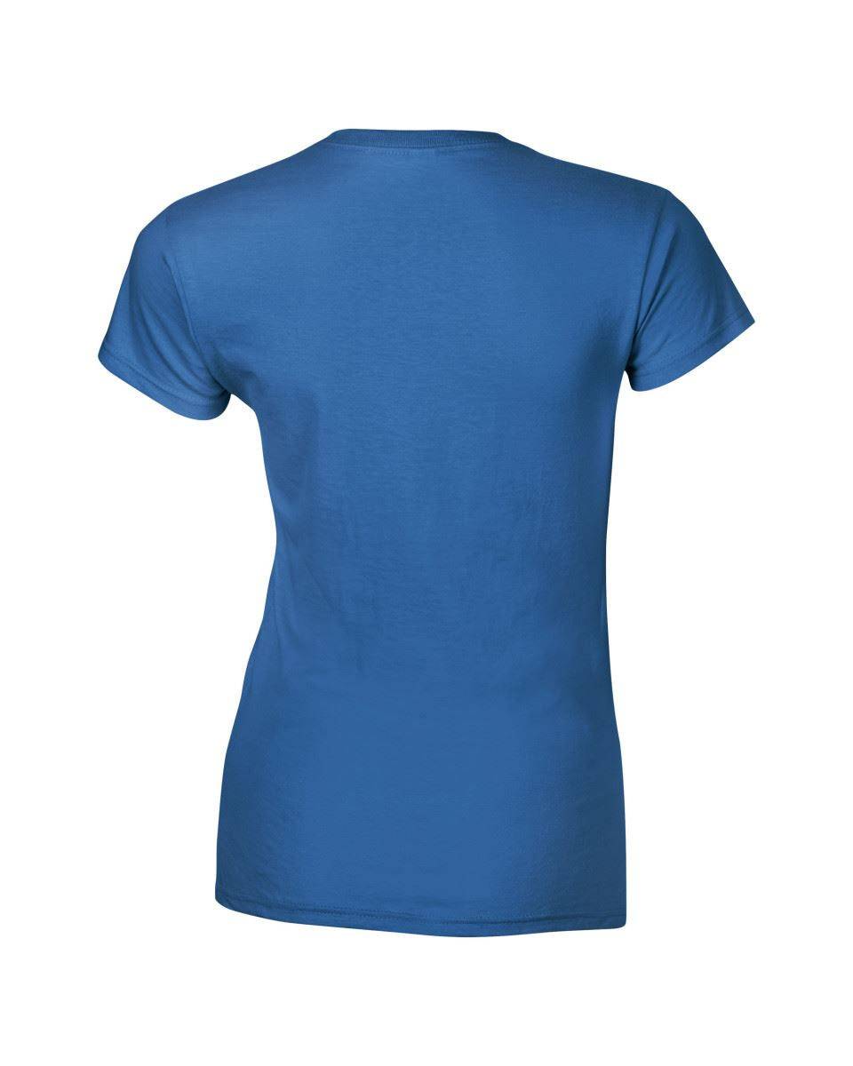 Gildan-Womens-Ladies-Soft-Style-Plain-V-Neck-T-Shirt-Cotton-Tee-Tshirt thumbnail 129