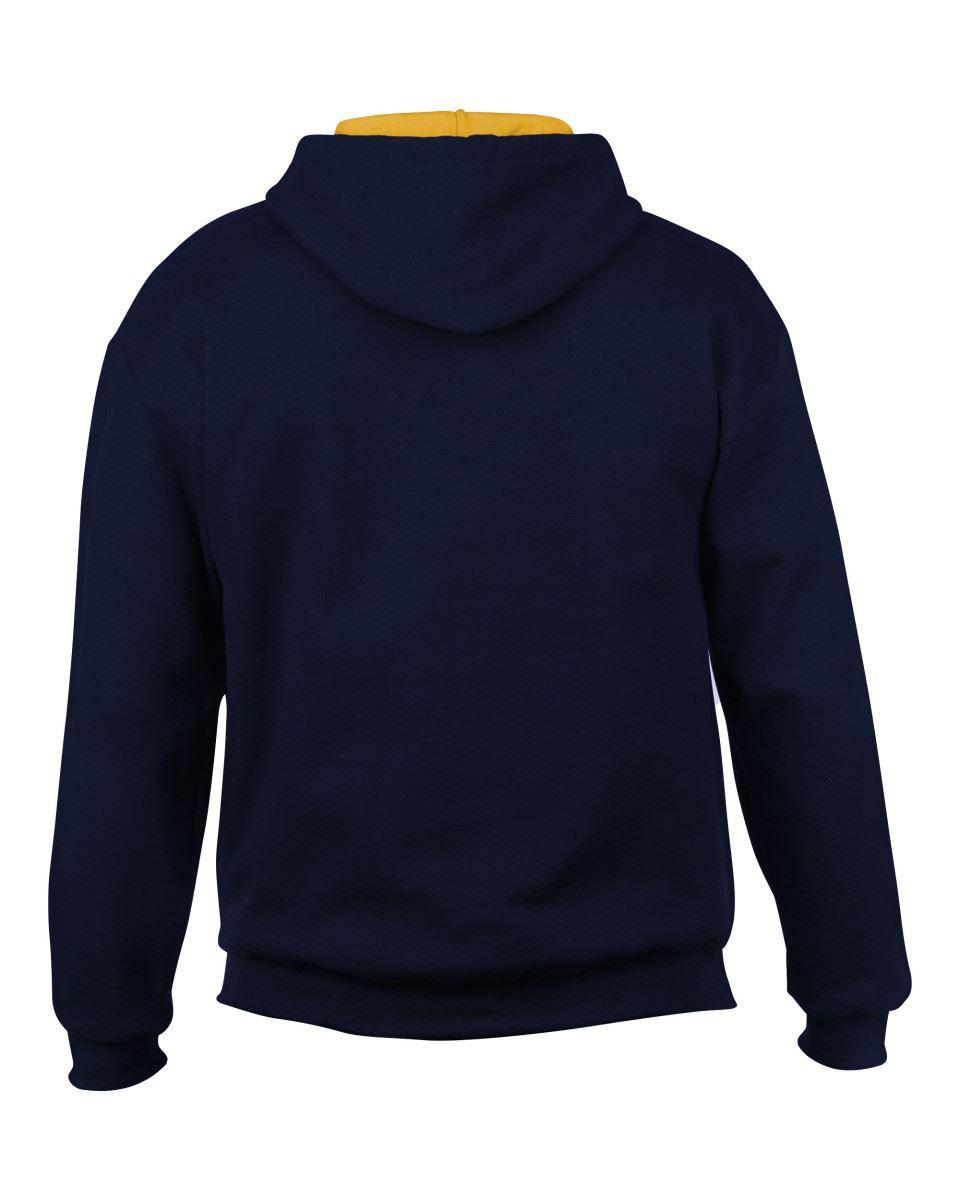 Gildan-Heavy-Blend-Plain-Contrast-Hooded-Sweatshirt-Hoodie-Sweat-Hoody-Jumper thumbnail 14