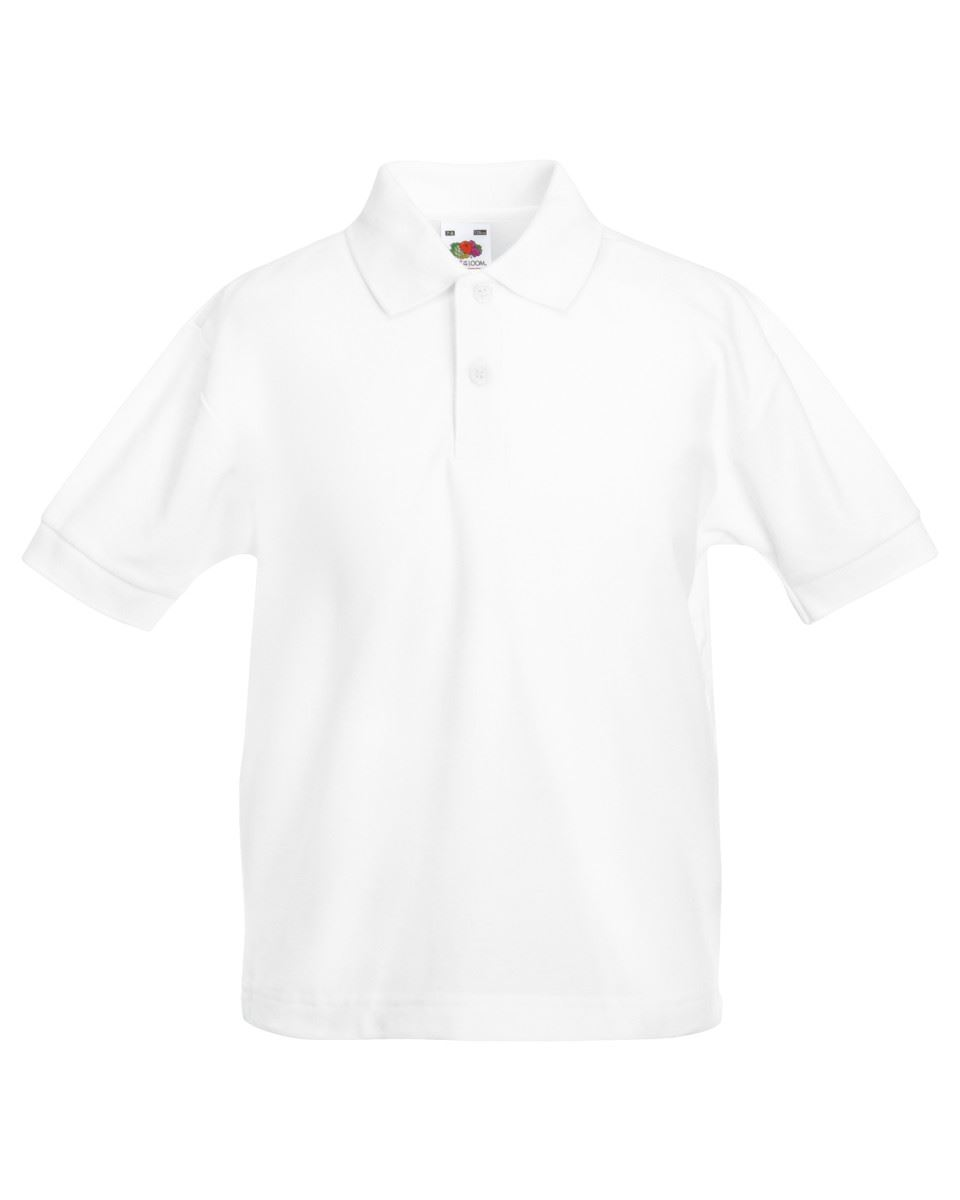 Fruit-Of-The-Loom-Childrens-Kids-Girls-Boys-65-35-Pique-Polo-Shirts-T-shirt-Tee thumbnail 2