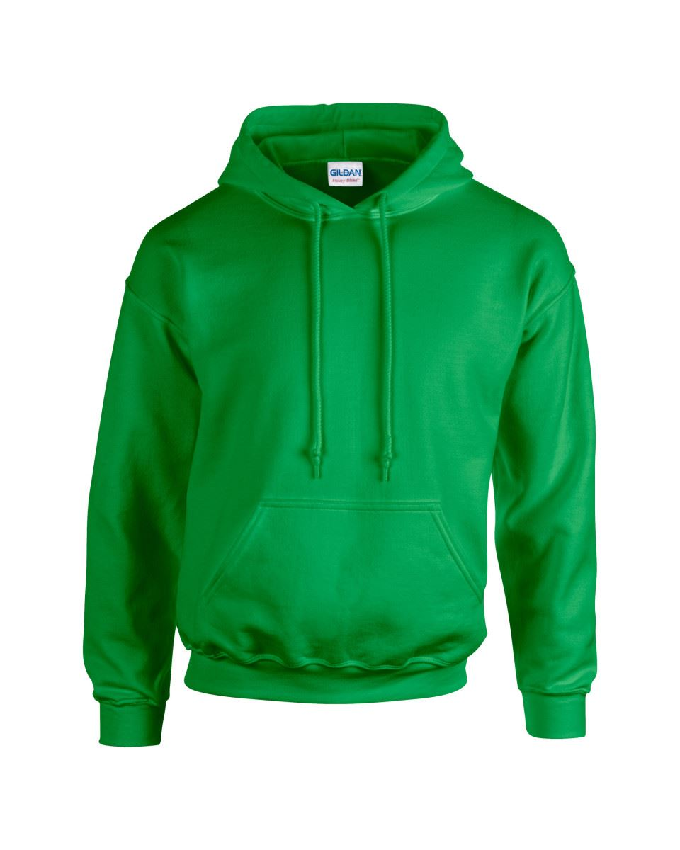 Gildan Heavy Blend Plain Hooded Sweatshirt Hoodie Sweat Hi Viz Hoody ... 04ca4078a0978