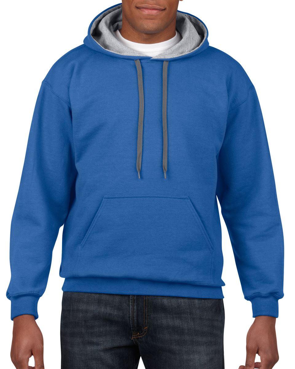 Gildan-Heavy-Blend-Plain-Contrast-Hooded-Sweatshirt-Hoodie-Sweat-Hoody-Jumper thumbnail 31
