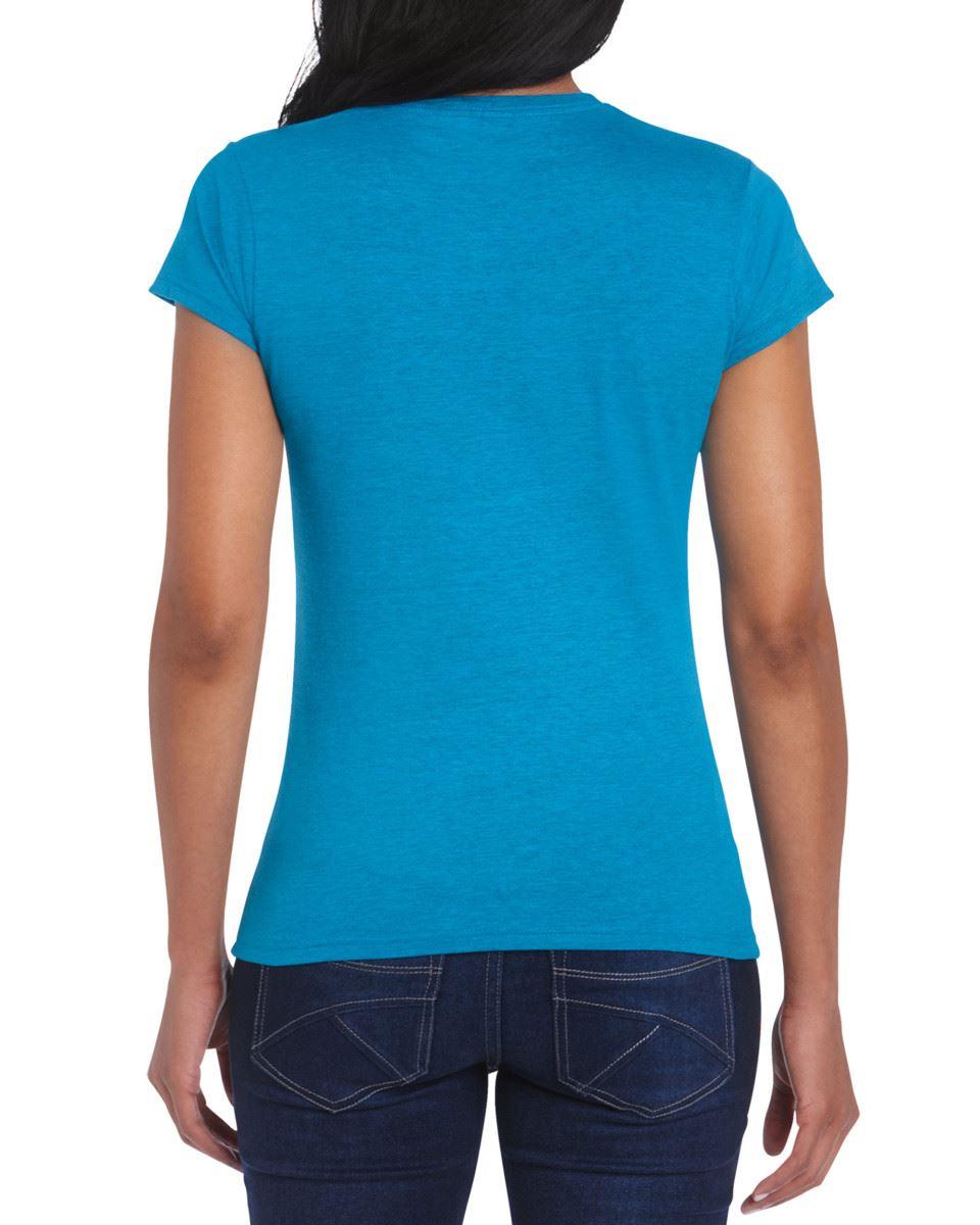 Gildan-Womens-Ladies-Soft-Style-Plain-V-Neck-T-Shirt-Cotton-Tee-Tshirt thumbnail 23