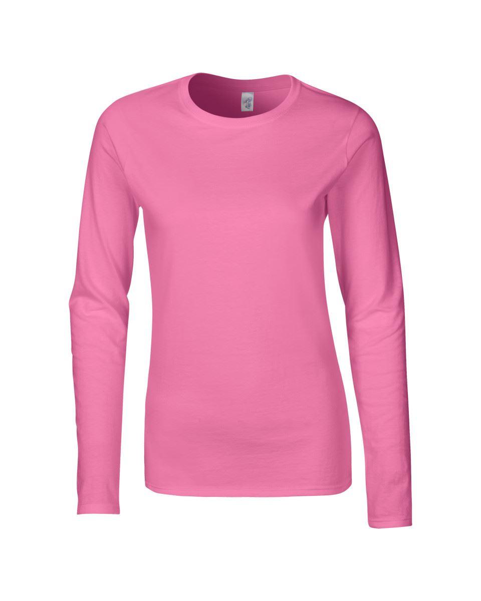 GILDAN-softsyle-Femmes-T-shirt-homme-a-manches-longues-100-Coton-Doux-Decontracte-Femme miniature 15