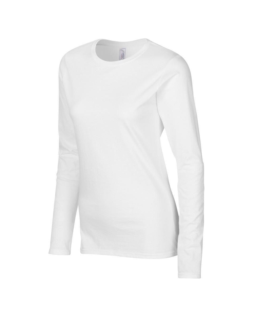 GILDAN-softsyle-Femmes-T-shirt-homme-a-manches-longues-100-Coton-Doux-Decontracte-Femme miniature 7