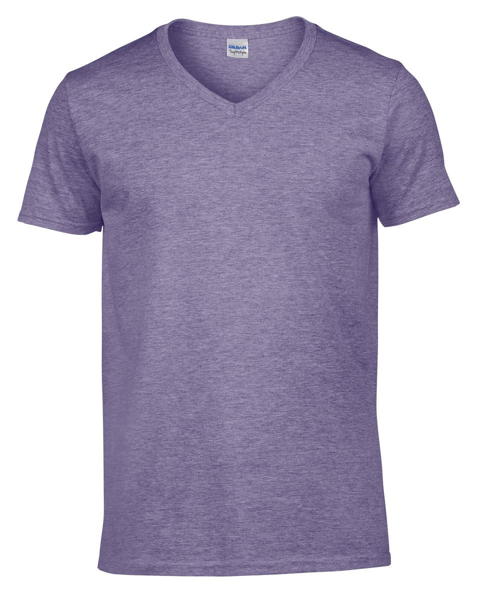 Gildan-Mens-Men-039-s-Soft-Style-Plain-V-Neck-T-Shirt-Cotton-Tee-Tshirt thumbnail 30