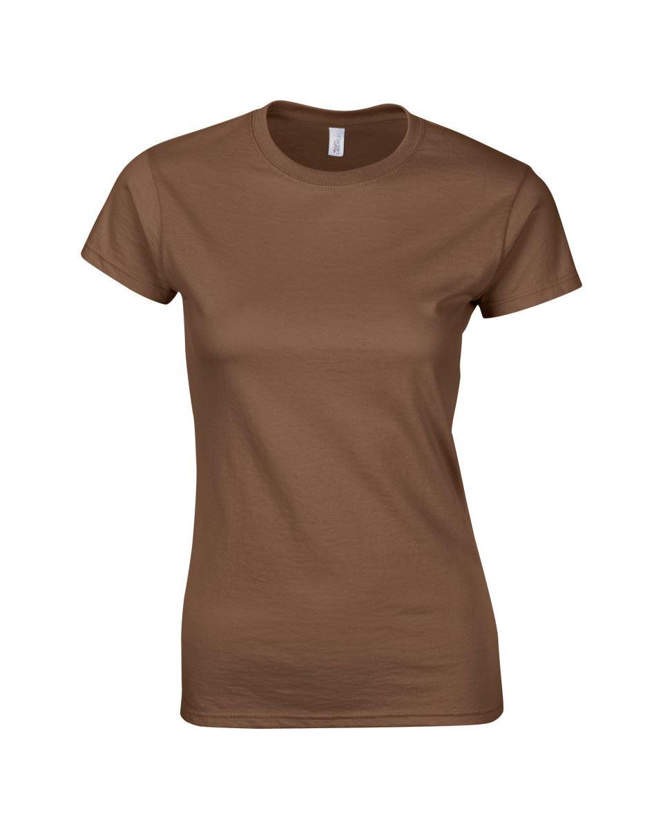 Gildan-Womens-Ladies-Soft-Style-Plain-V-Neck-T-Shirt-Cotton-Tee-Tshirt thumbnail 44