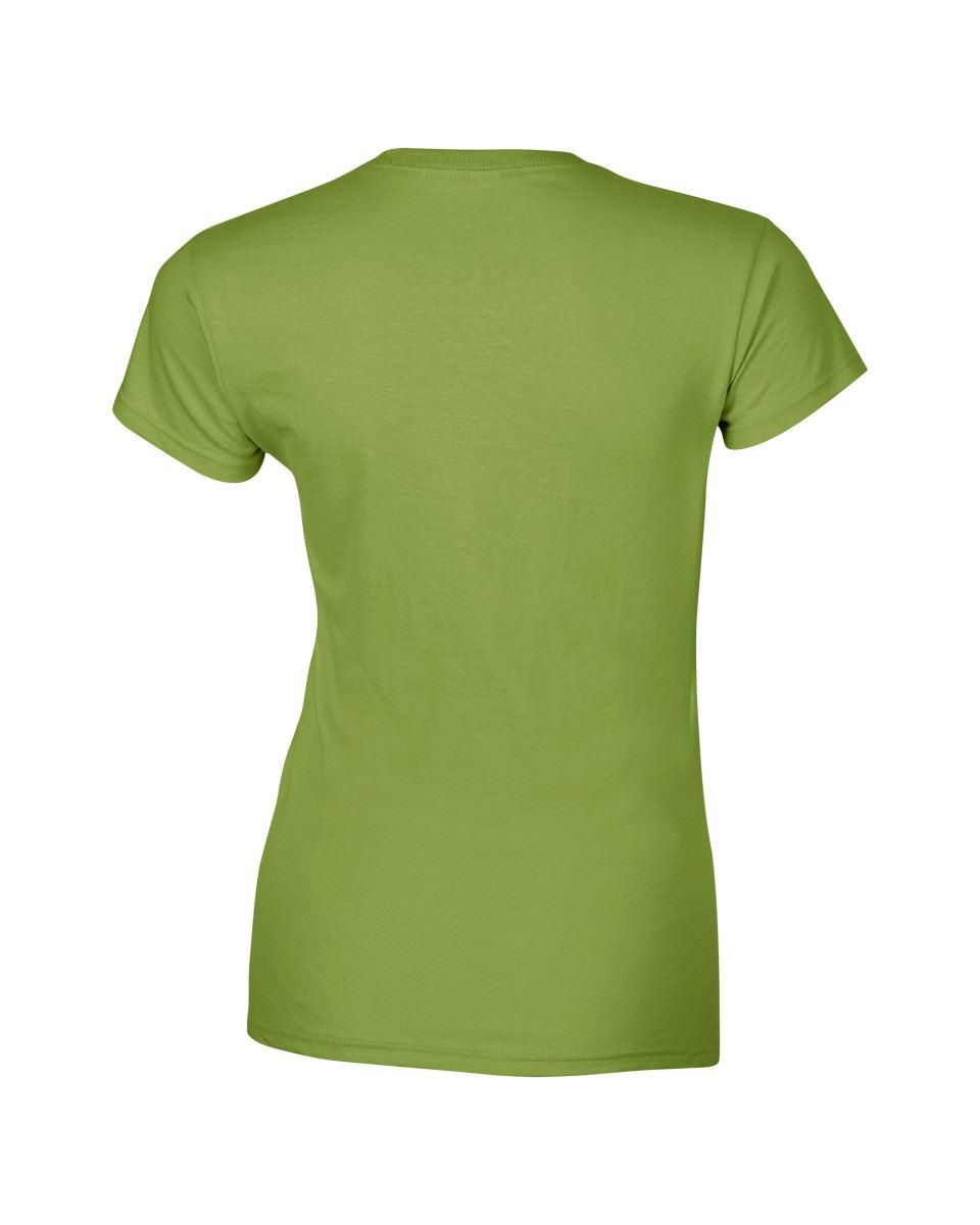 Gildan-Womens-Ladies-Soft-Style-Plain-V-Neck-T-Shirt-Cotton-Tee-Tshirt thumbnail 97