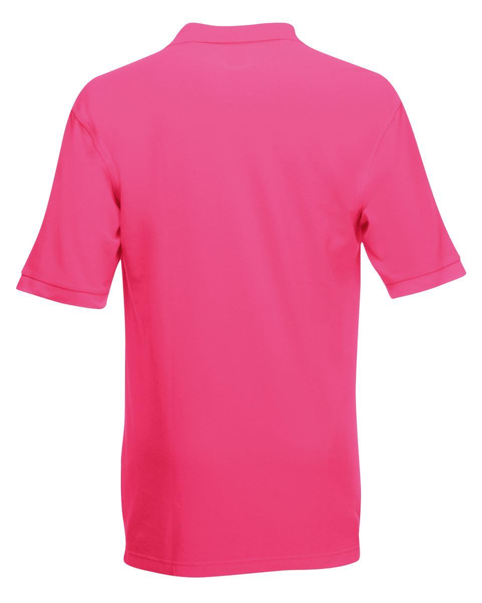 Mens-Polo-Shirts-Fruit-of-the-Loom-Premium-Polo-100-Cotton-Polo-Shirt-SS255 thumbnail 19
