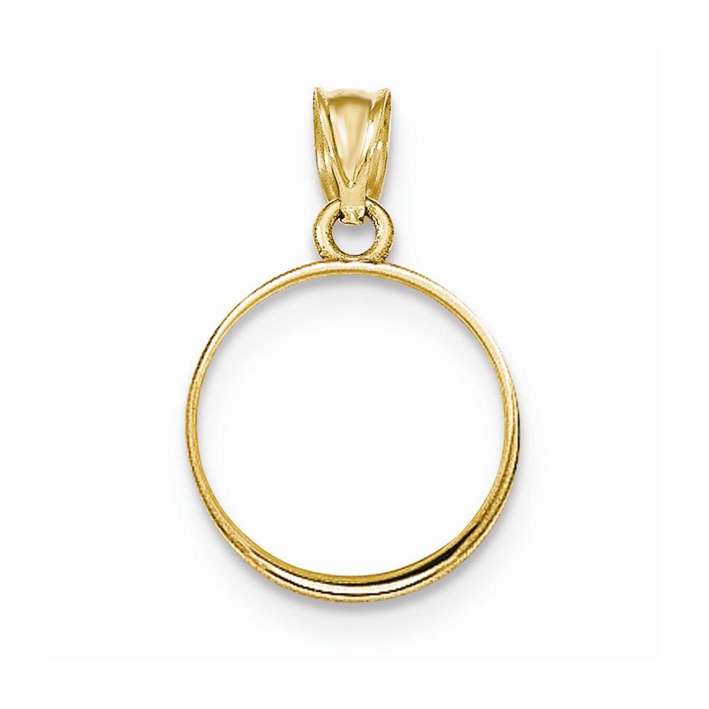 14k solid Yellow gold 4-Prong Coin Bezel Frame  1//20 Oz Panda /& Kangaroo #B1