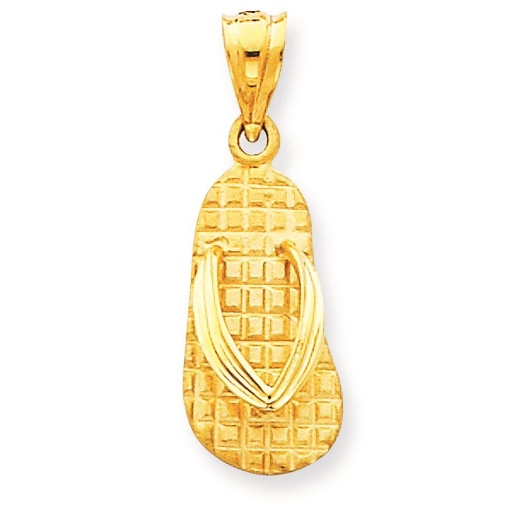 14K Yellow Gold Break-Apart Mizpah Coin Charm Pendant MSRP $247