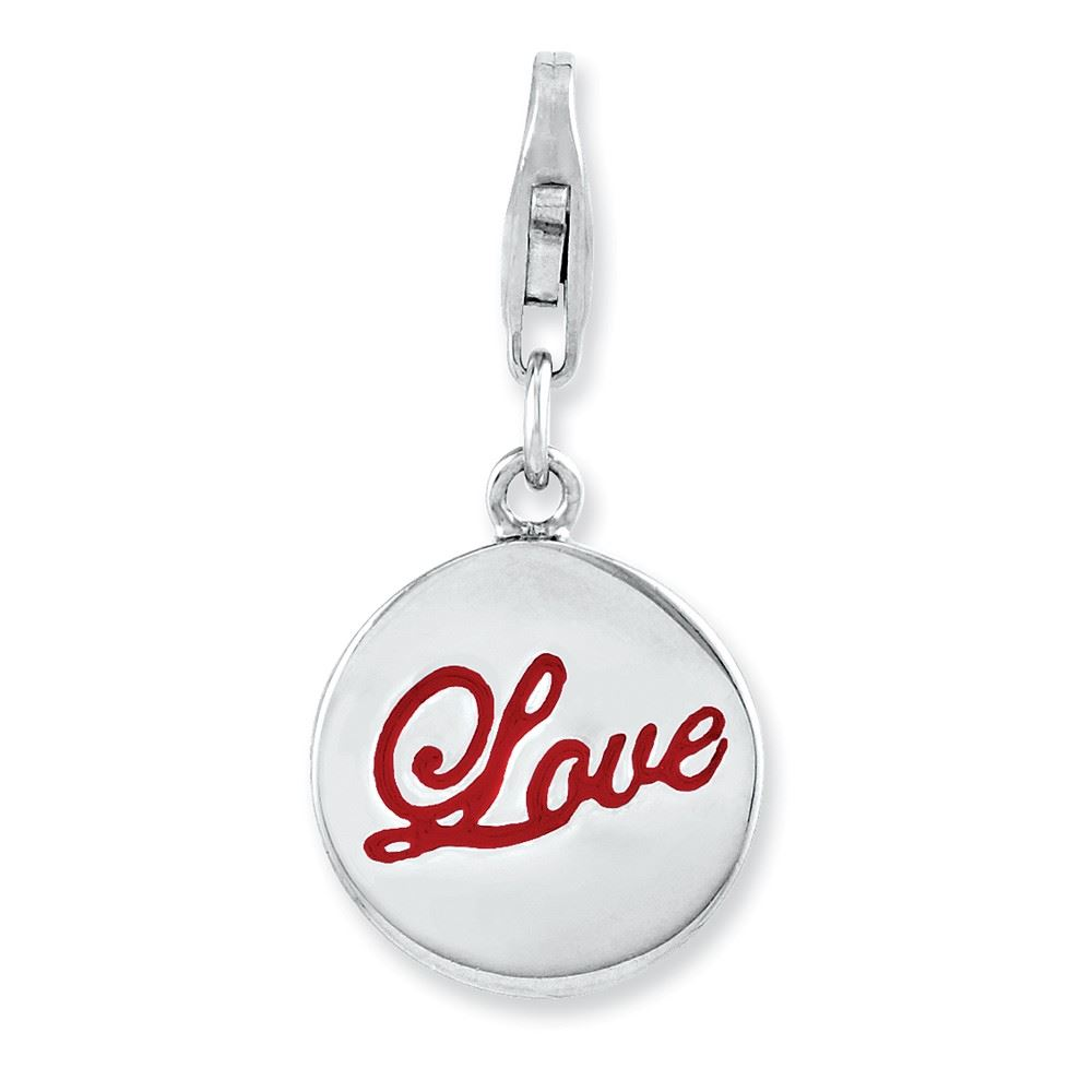 Amore La Vita Sterling Silver Enameled Cake Click-On Lobster Clasp Charm Pendant