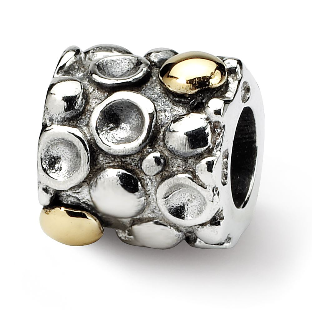 Beautiful Sterling silver 925 sterling Sterling Silver Reflections Dots Bali Bead