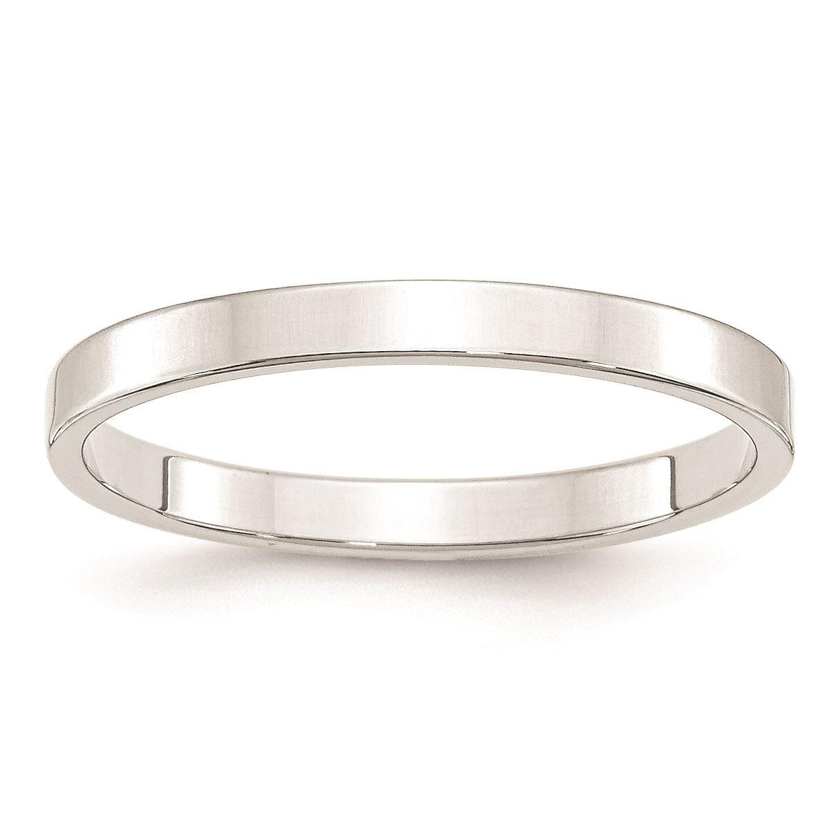 14K White Gold 2.5mm Half Round Light Band