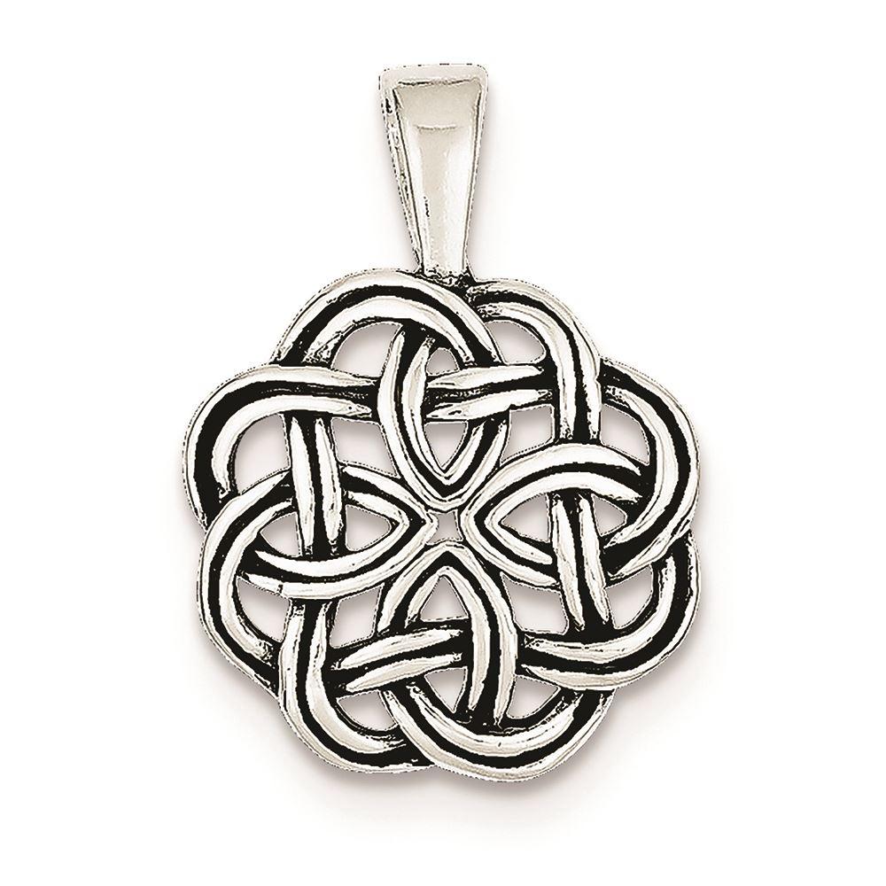 .925 Sterling Silver Antiqued Celtic Charm Pendant