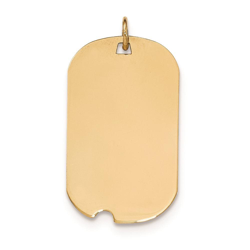14k Plain .013 Gauge Engravable Round Disc Charm