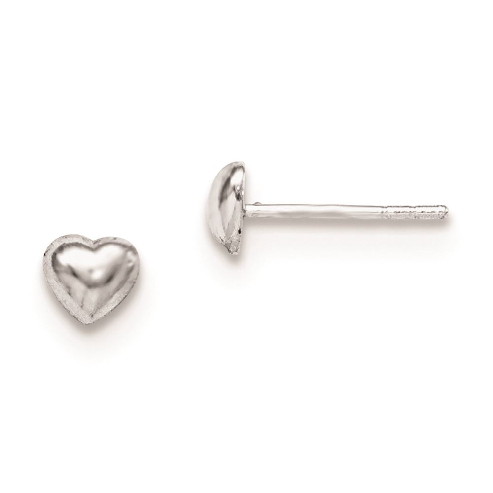 17763bc63 925 Sterling Silver 6 MM Children's Heart Post Stud Earrings MSRP ...