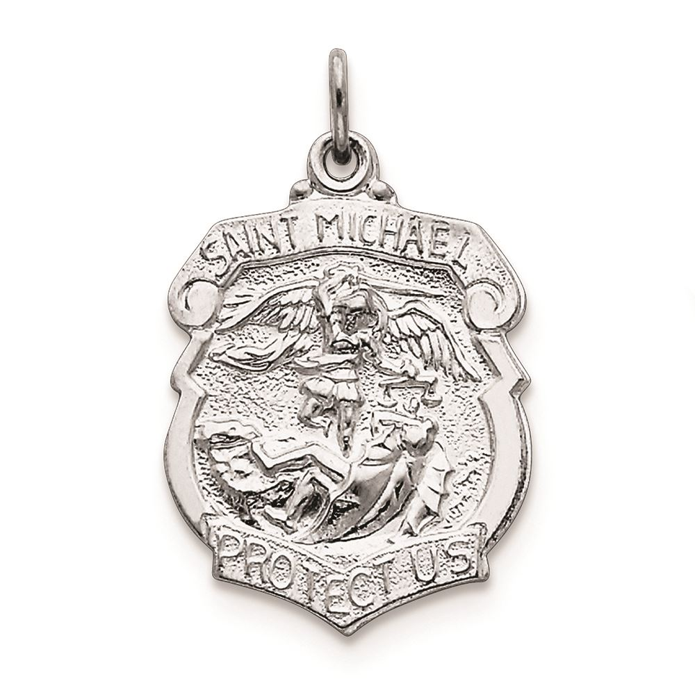 Michael Badge Medal Sterling Silver St