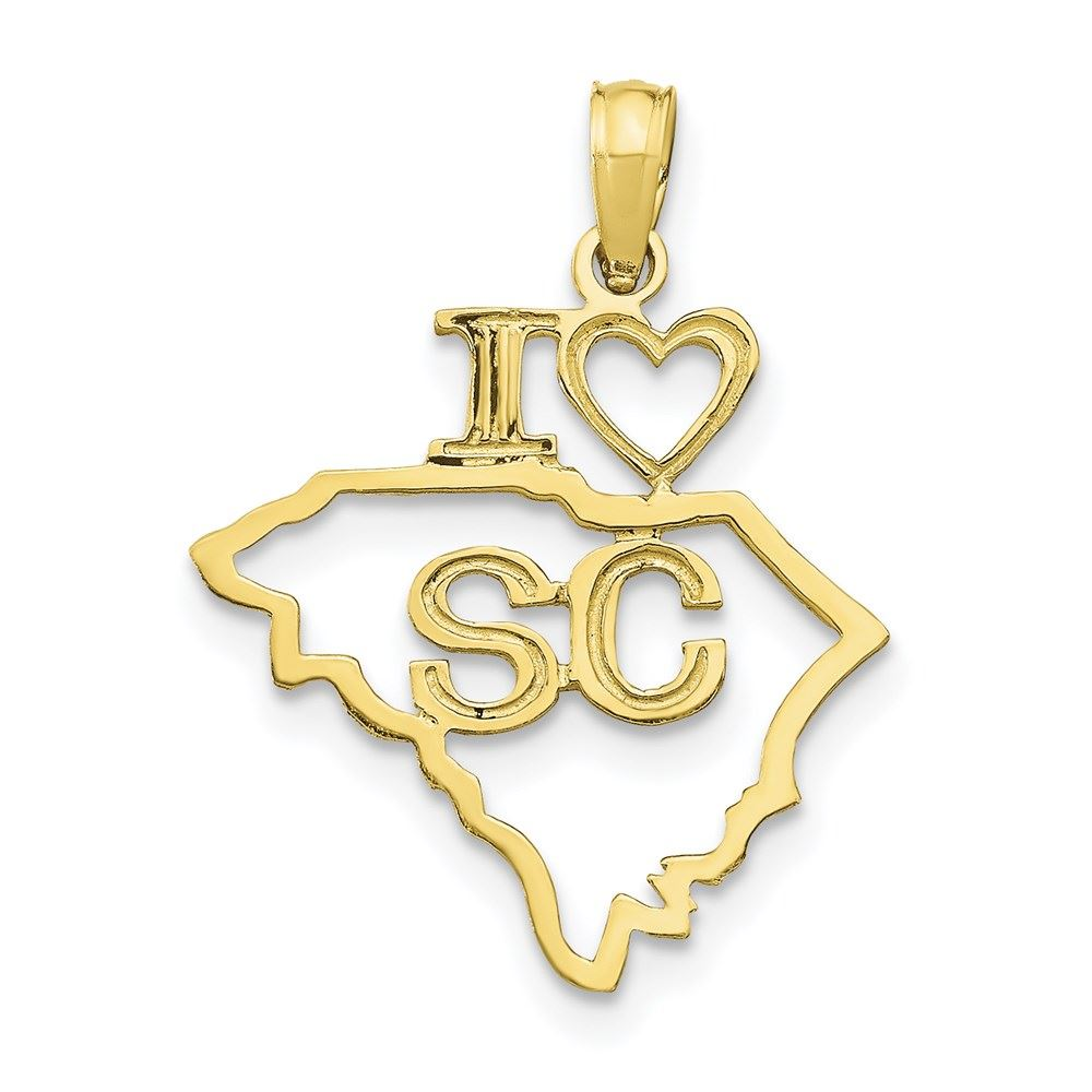 Charms for Bracelets and Necklaces 10k Yellow Gold South Carolina Charm