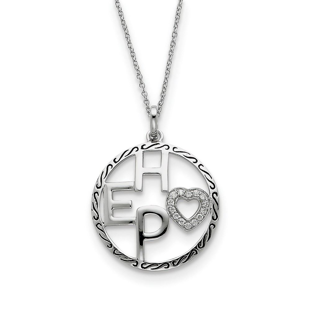 18 Sentimental Expressions Sterling Silver Antiqued For You My Sister Necklace