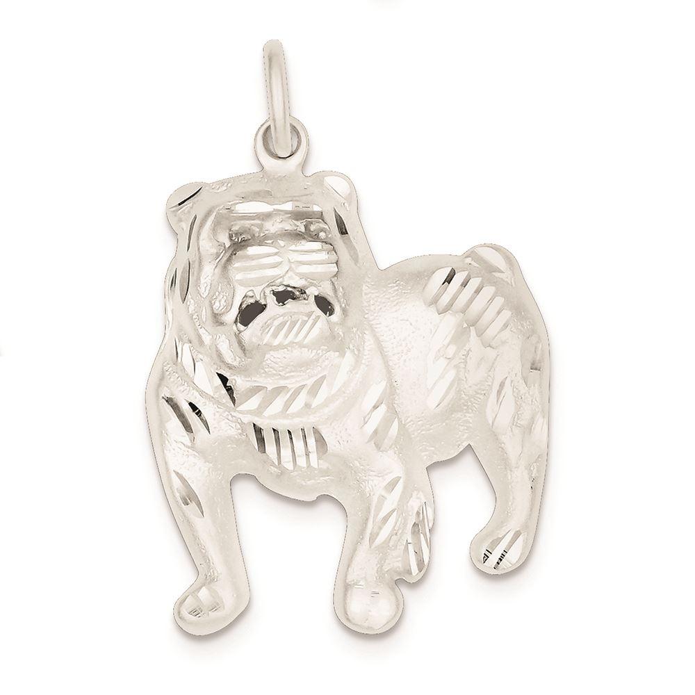 15PCS Antique silver Dog Charms .Bulldog charm animal pendants CY305