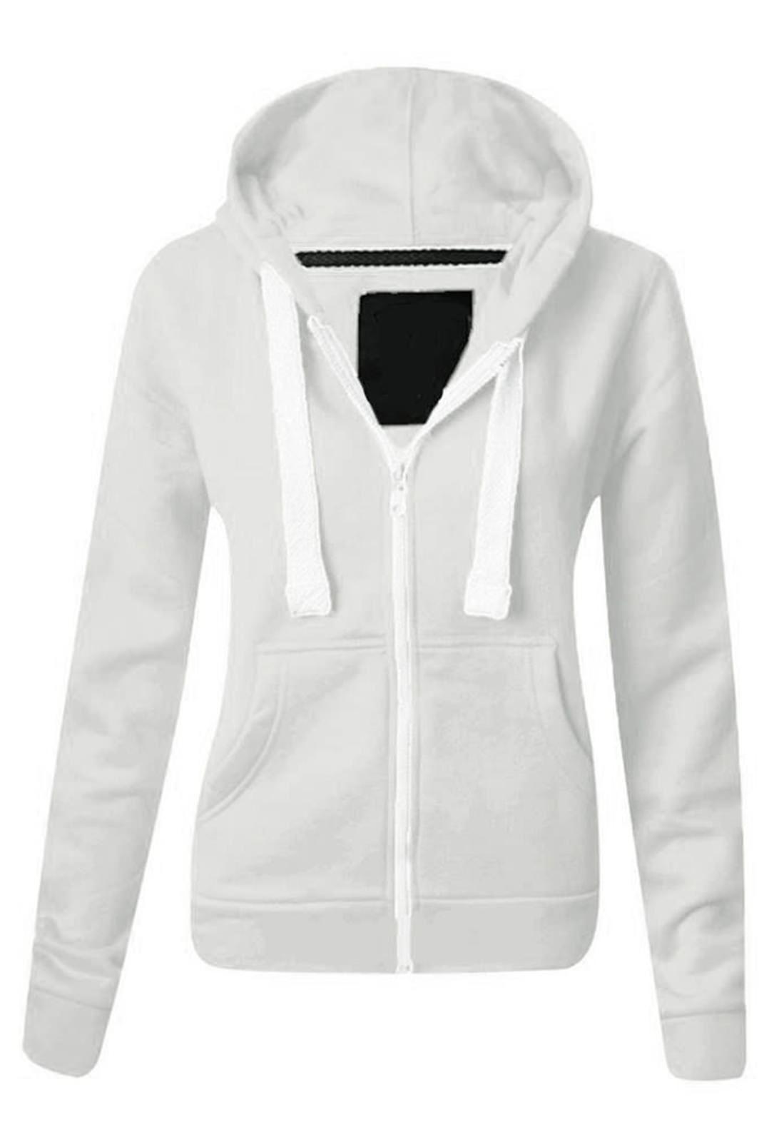 Womens white zip jacket