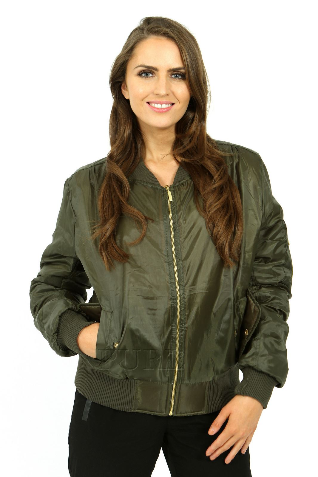 Leather jacket uk womens - Ladies Womens Girls Ma1 Padded Stylish Zip Up Bomber Jacket Badges Black S Uk 8
