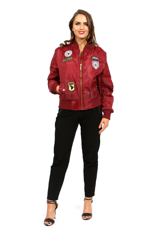 Ladies Womens Vintage Bomber Jacket Plus Size US Army ...