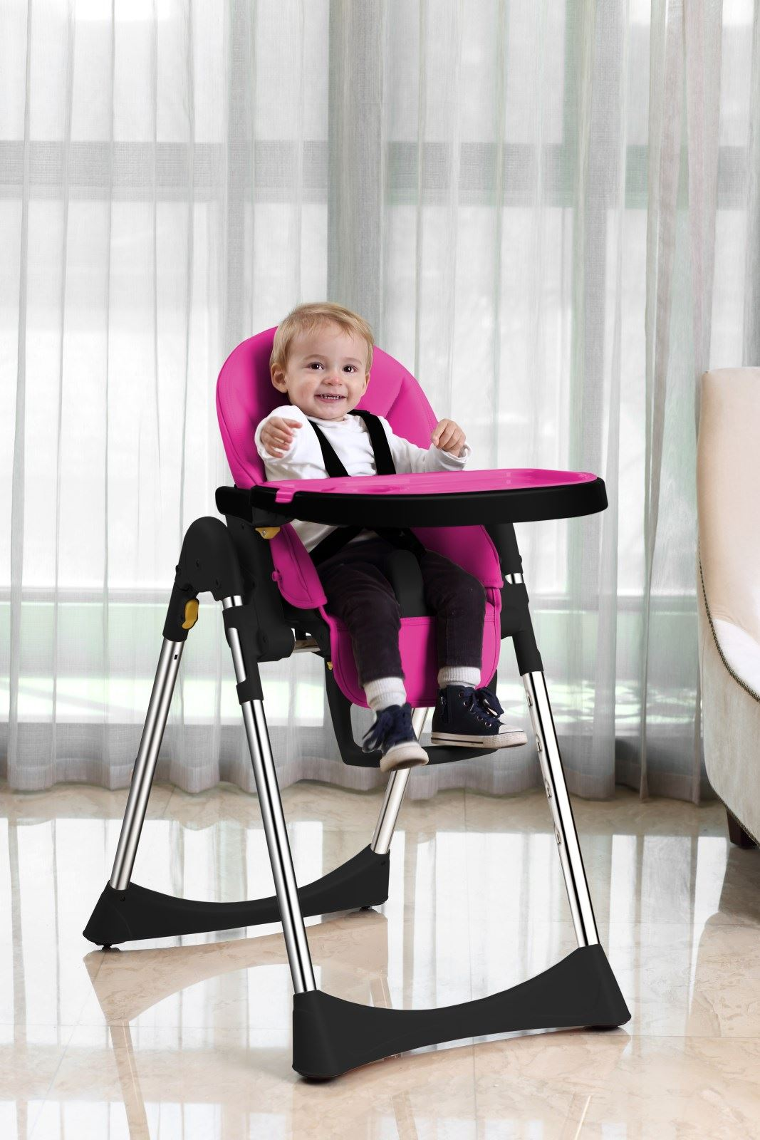 Velu Baby Child Highchair Feeding Chair Compact High