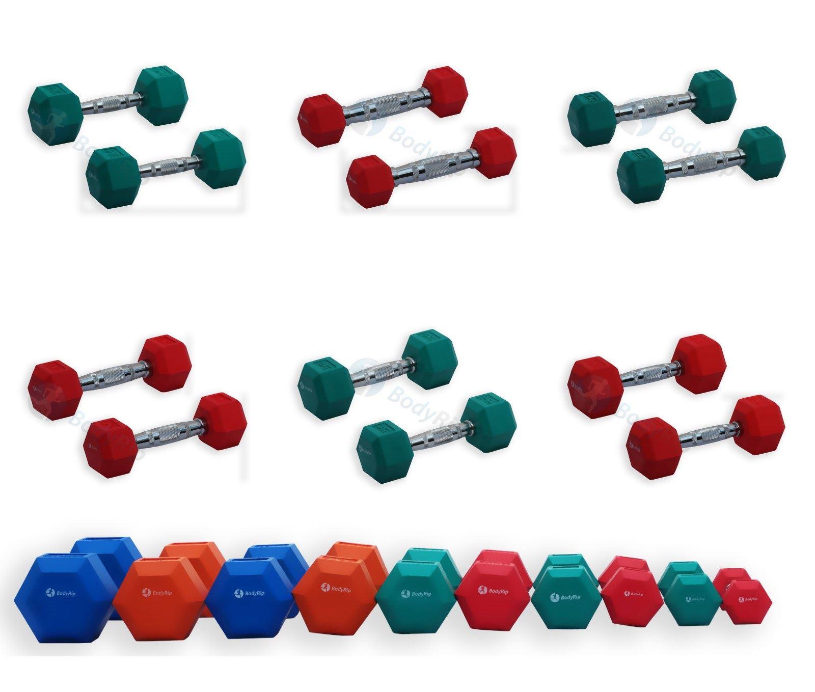 Hexagonal-Pesas-Hexagonal-Goma-Revestido-ERGO-Pesos-Juegos-Gimnasio-Set-Peso-Fitness