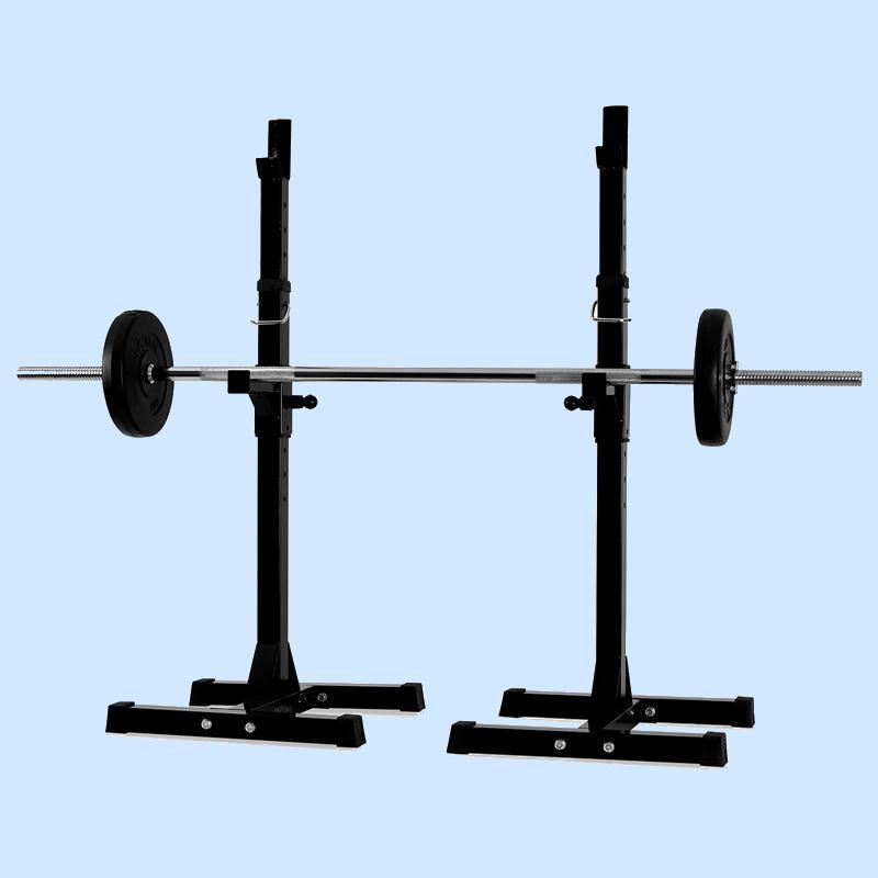 New Gym Squat Barbell Power Rack Stand Adjustable Press