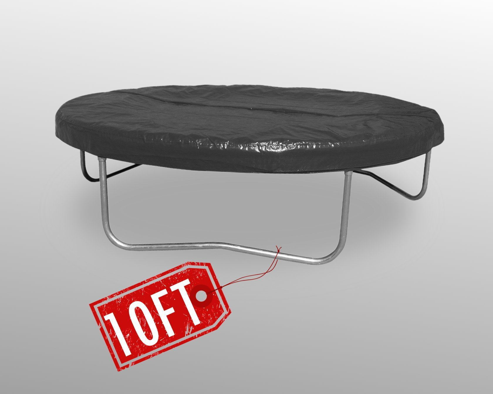 Trampoline-Rain-Dust-Cover-8FT-10FT-12FT-14FT-Black-Weather-Protection-Guard-New