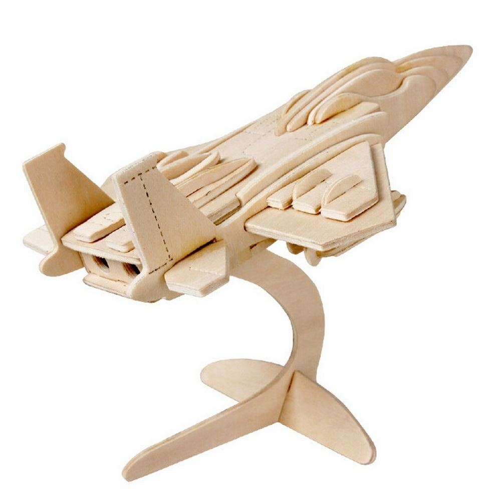 3D Wooden Puzzle Jigsaw Woodcraft Modelling Puzzle Toy Kit