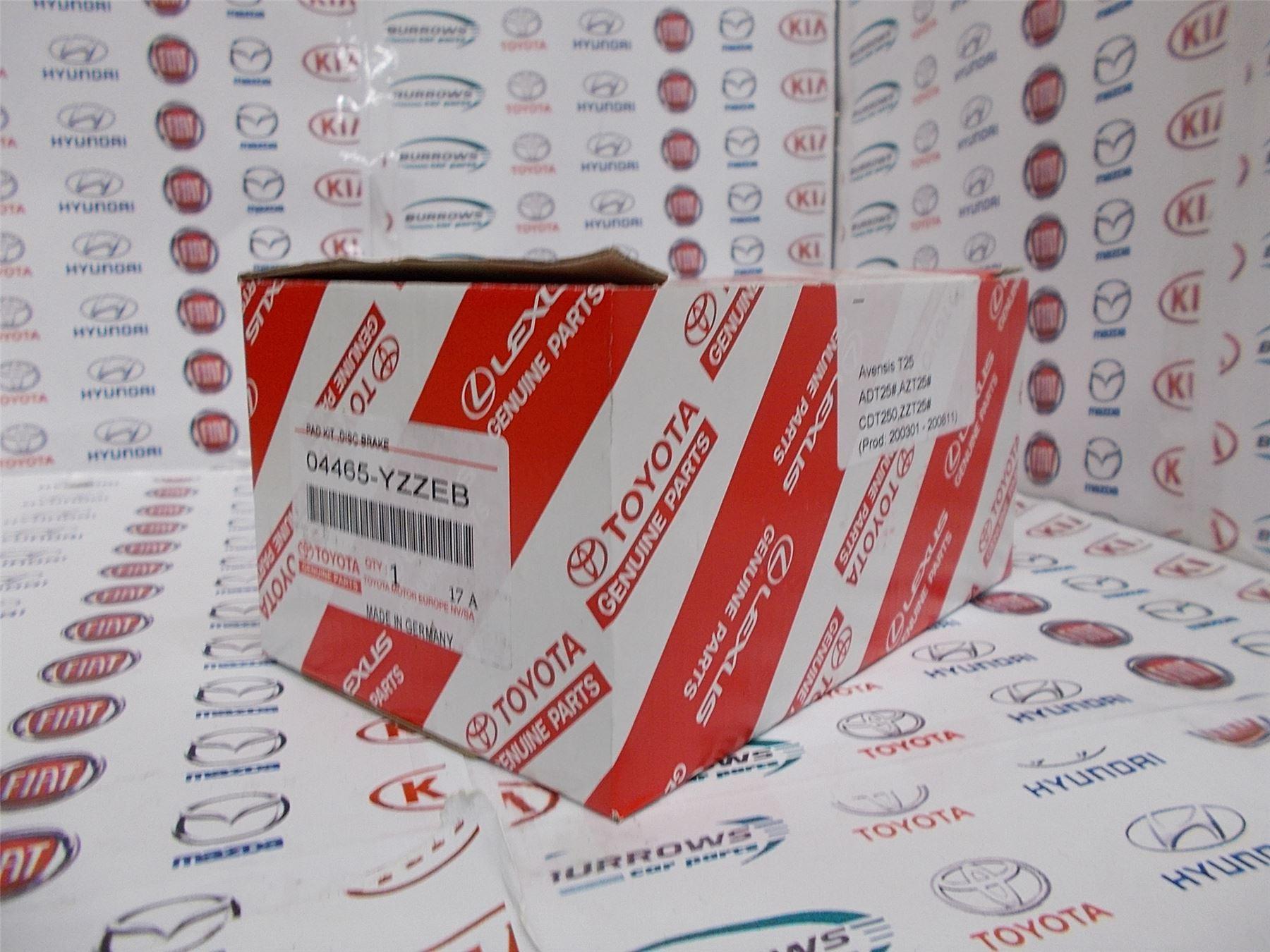 TOYOTA COROLLA VVTI D4D 2001/> BRAKE PADS FRONT MINTEX