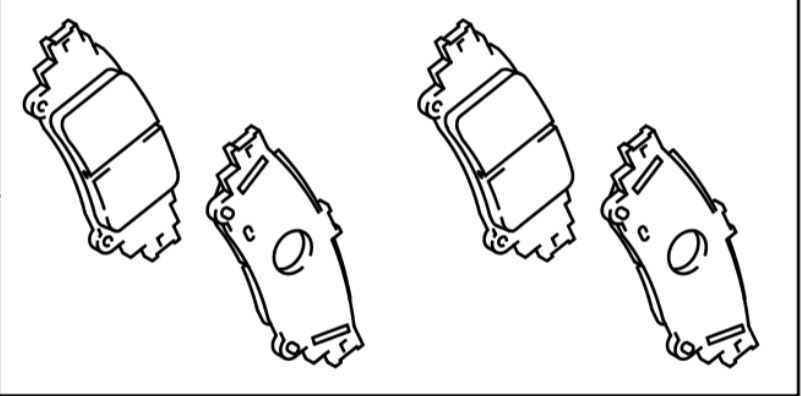 Plus  2012-2018 Rear Brake Pads 04466-47071 Fast Dispatch Genuine Toyota Prius